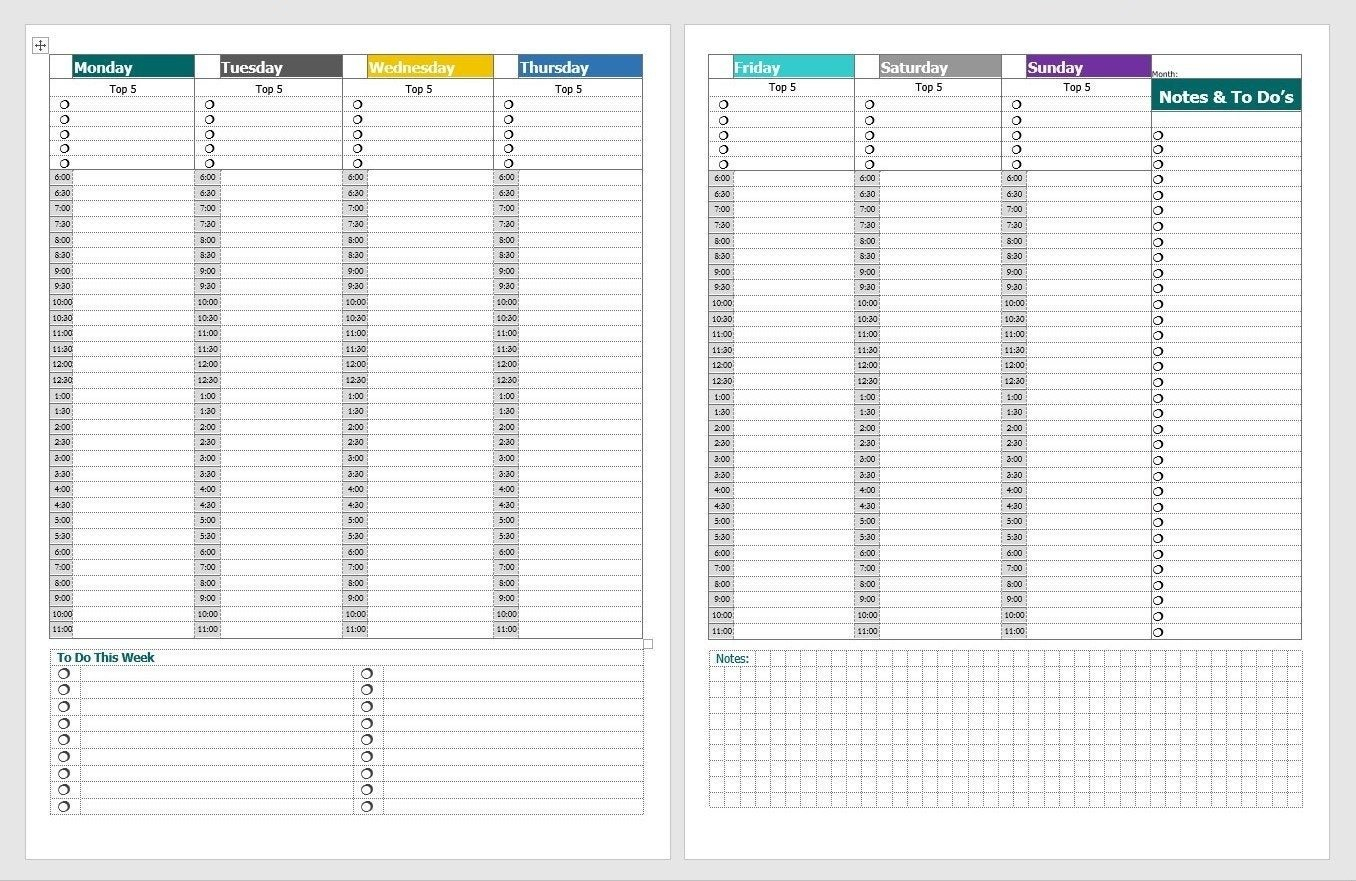Schedule With Time Slots 6 Am – Calendar Inspiration Design 2 Day Calendar With Time Slots