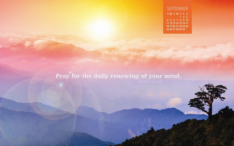September 2016 – Daily Renewing Desktop Calendar  Free Crosscards Monthly Calendar For Desktop