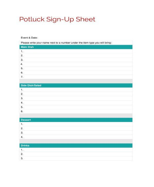 Sign Up Sheets – 58+ Free Word, Excel, Pdf Documents On Callalendar Sign Up Template