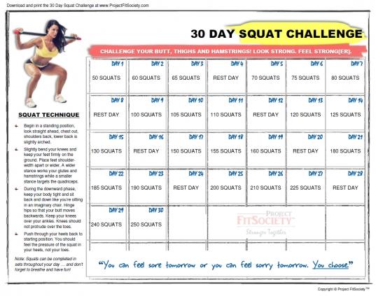 Squat Challenge Calendar To Print | Printable Calendar Retirement Short Timer Calendar