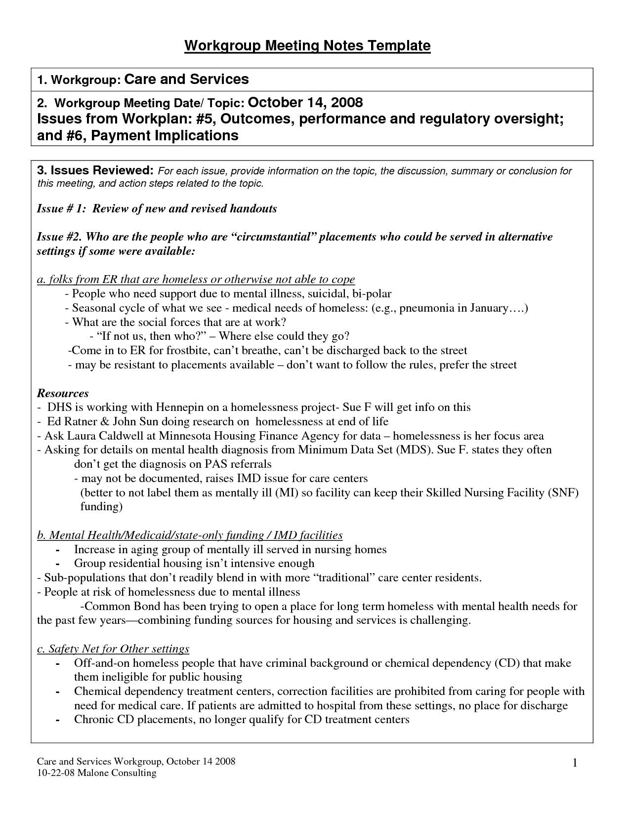 Summary Meeting Template – Colona.rsd7 In Meeting Recap 30 Day Plank Challenge Printable In Word