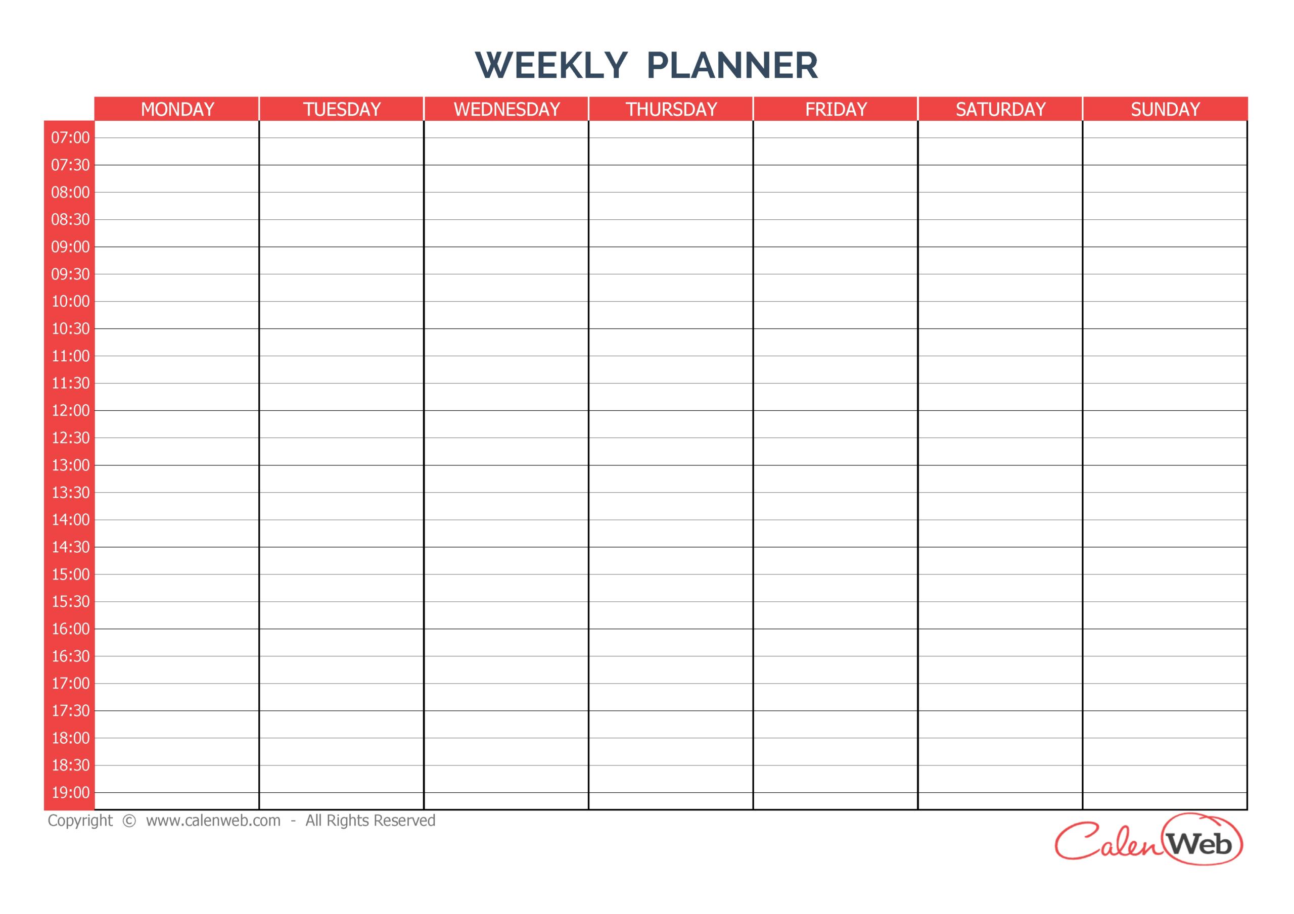 Sunday Through Saturday Calendar   Calendar Printables Word Calendar Template Monday – Sunday