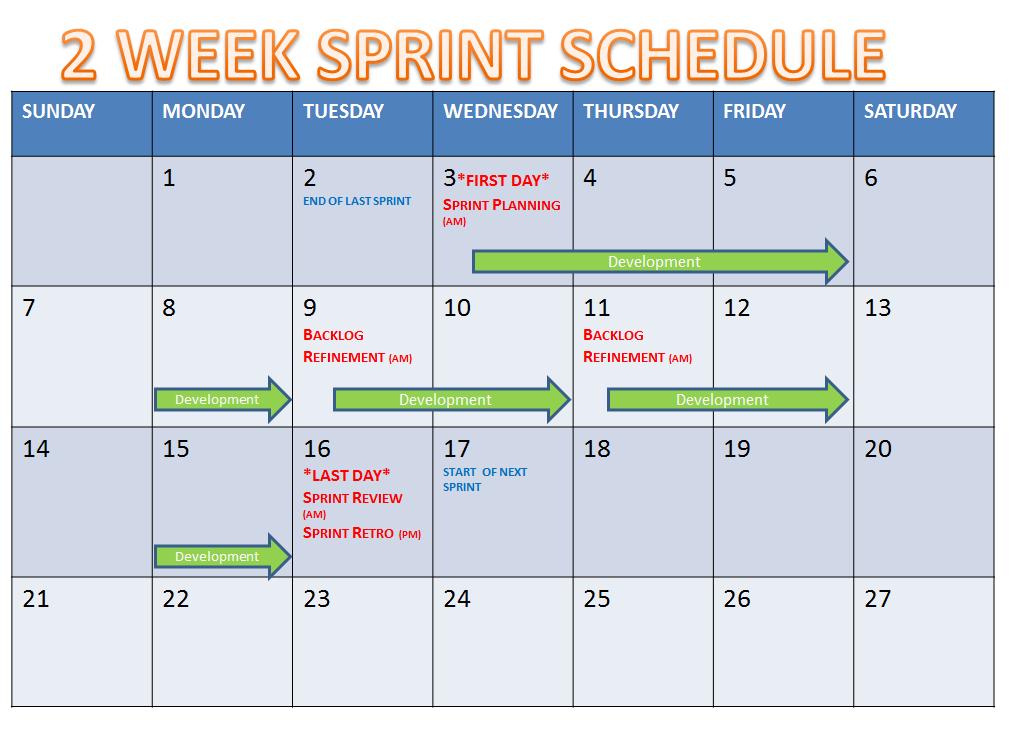 Taner'S Blog Next Two Week Calendar Schedule