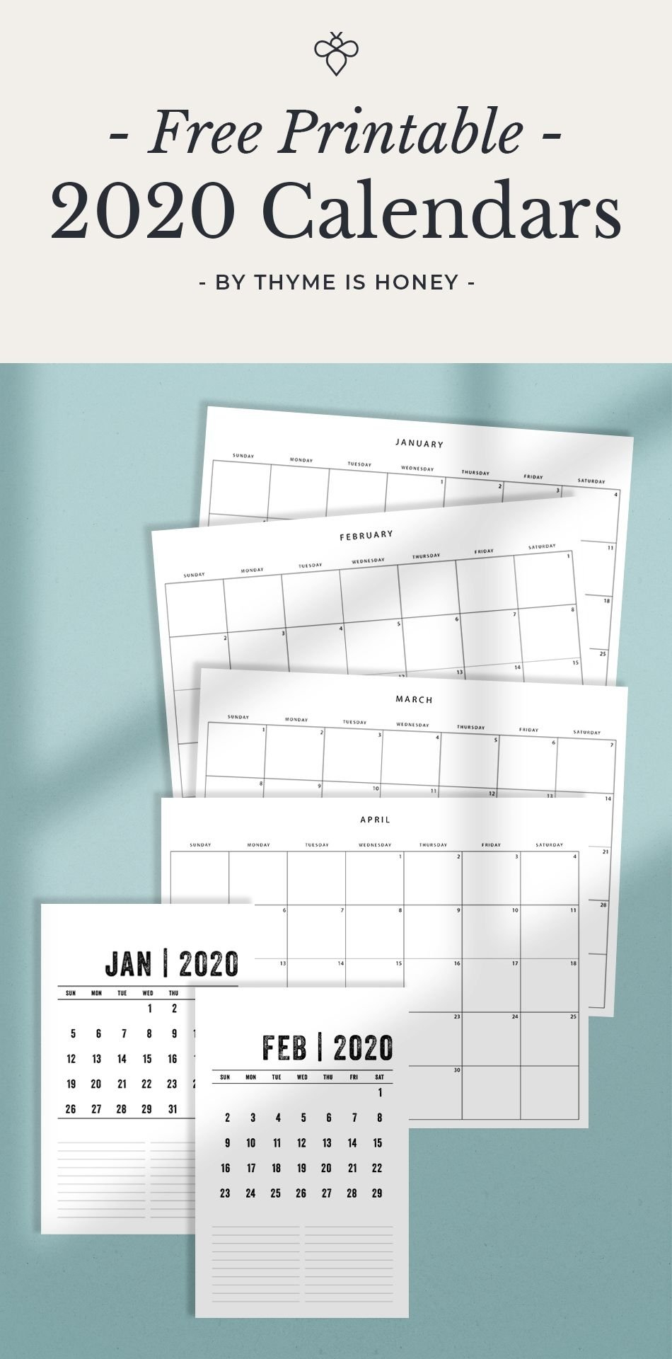 The Printable 2 Page Per Month 5.5 X 8.5 Calendar 2020 2 Page Monthly Calendar Free