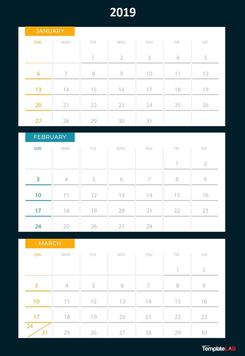 Three Month At A Glance Printable Calendar | Example Print 3 Month Calendar