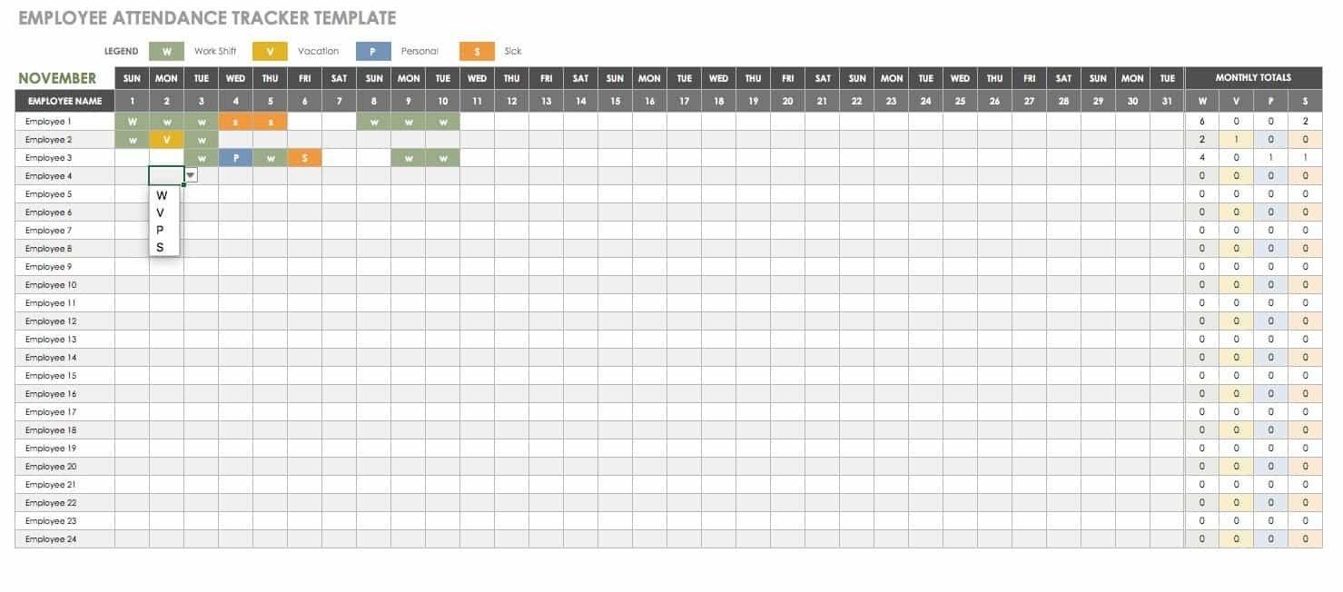 Time Off Calendar Excel   Calendar Template 2020 Excel Templates For Time Off Calender