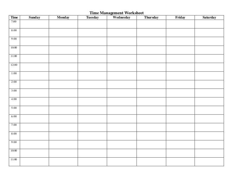 Timesheet Template 6/10Th Hour 7Am – 7Pm – Google Search Free Time Management Calendar