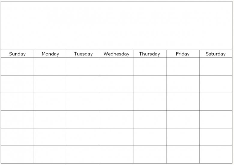 To Fill In Blank Calendar : Free Calendar Template Printable Fill In Schedule