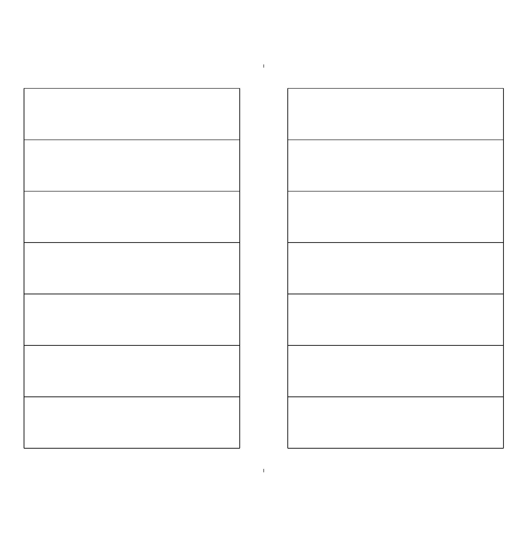 Two Week Calendar (Half Page) Free Download Two Week Calendar Form