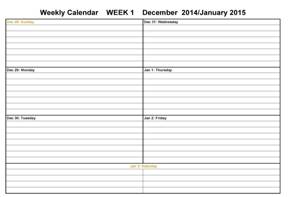 Two Week Calendar Template – Calendar Template 2021 Next Two Week Calendar Schedule