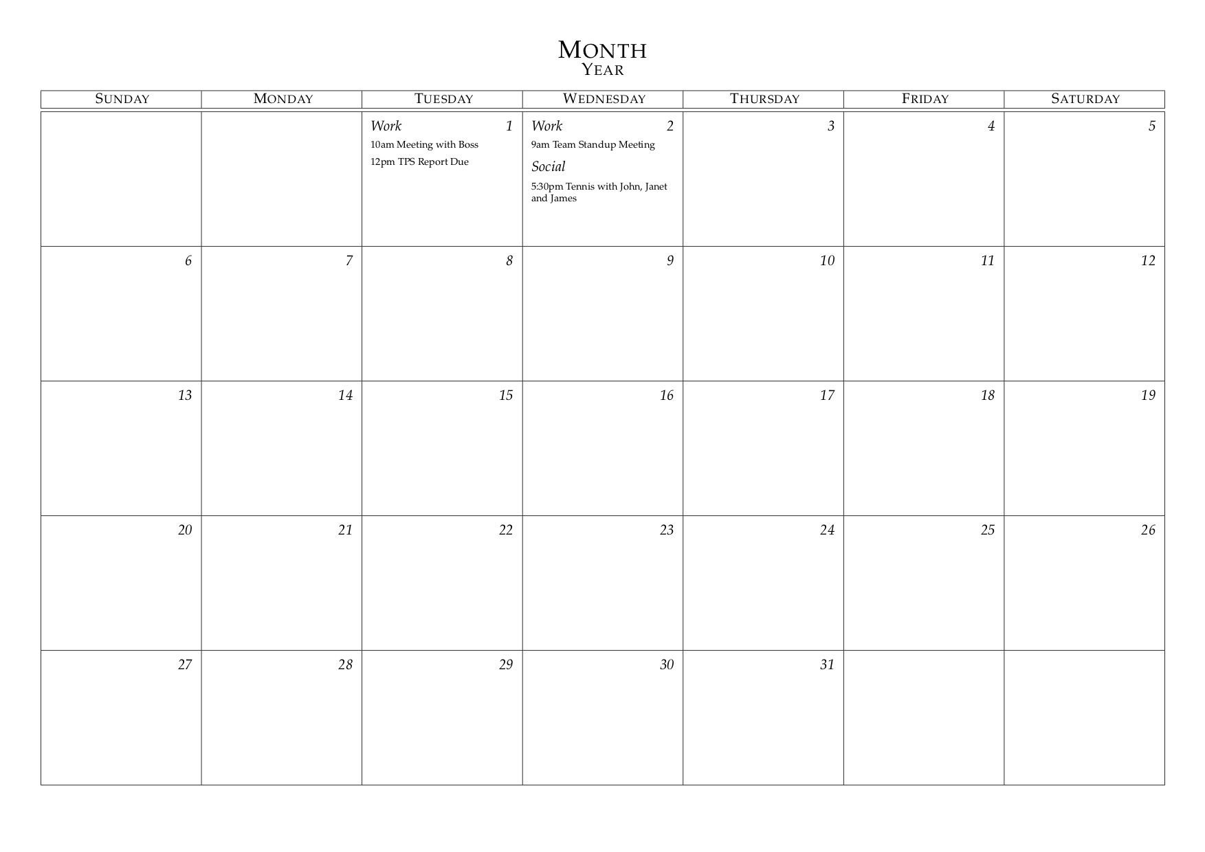 Universal Monthly Calendar I Can Edit | Get Your Calendar Free Calendars That I Can Edit And Print