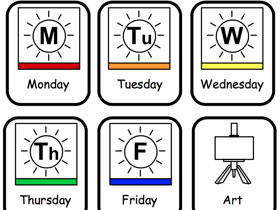 Visual Timetable – Communication In Print   Teaching Resources One Week Monday Through Saturday Communication Calendar