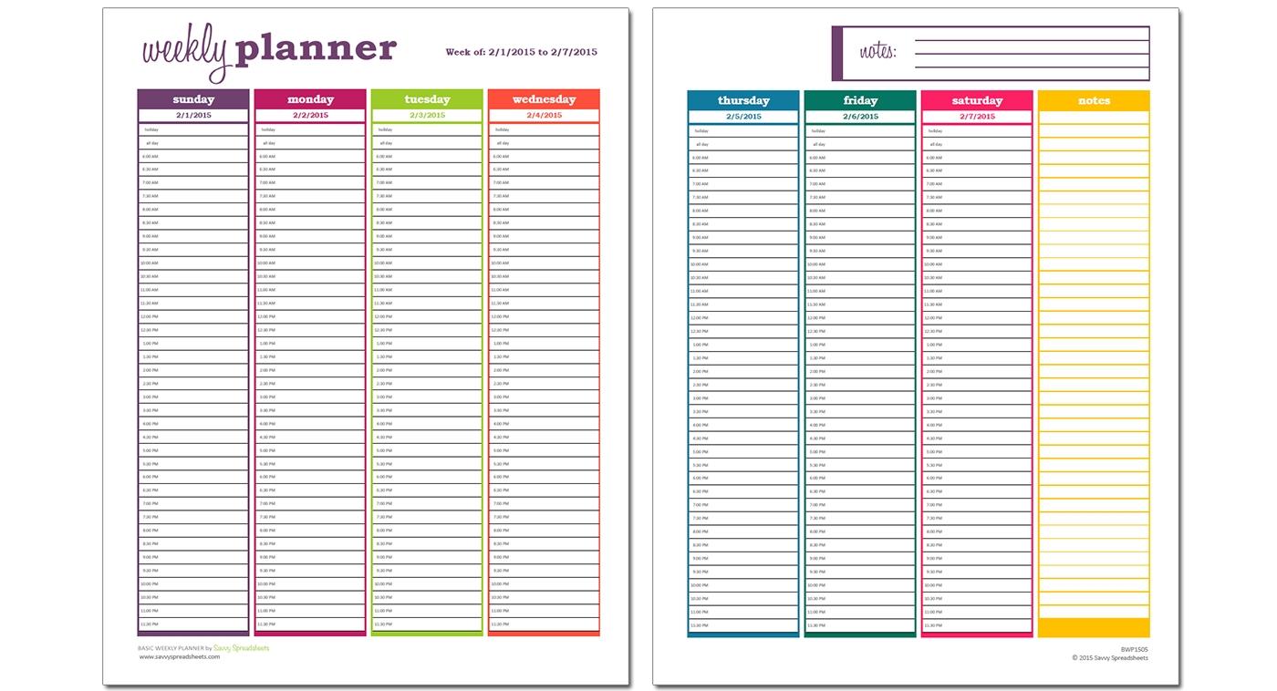 Week Calendar Hour Slots | Ten Free Printable Calendar 2 Day Calendar With Time Slots
