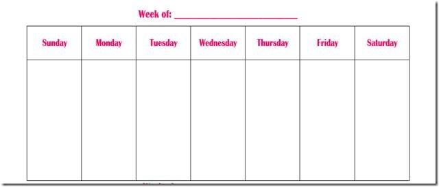 Weekly Calendar Fill In – Printable Week Calendar Free Fillable Weekly Schedule