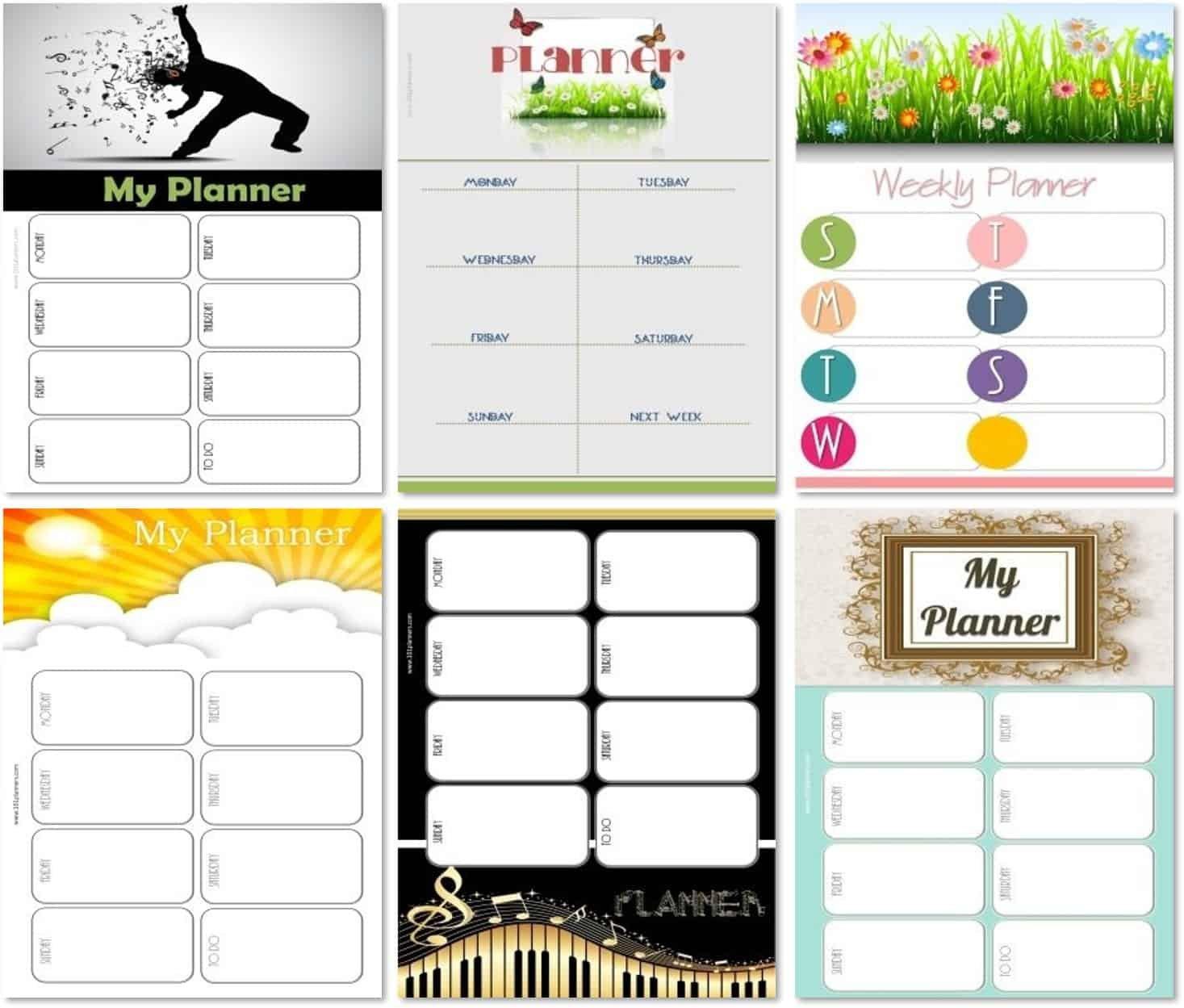 Weekly Calendar Maker   Create Free Custom Calendars Create A Two Week Calendar