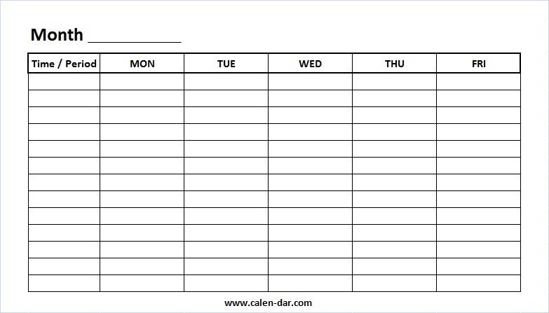 Weekly Calendar Printable Monday To Sunday Graphics Weekly Schedule Monday To Sunday