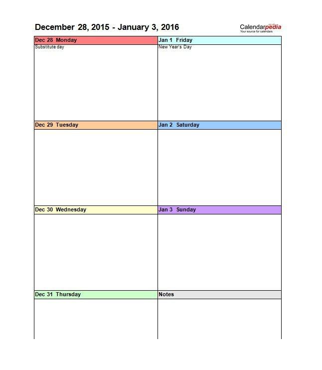 Weekly Calendar Vertical – Calendar Printable Week Free Lined Calendar Templates Printable