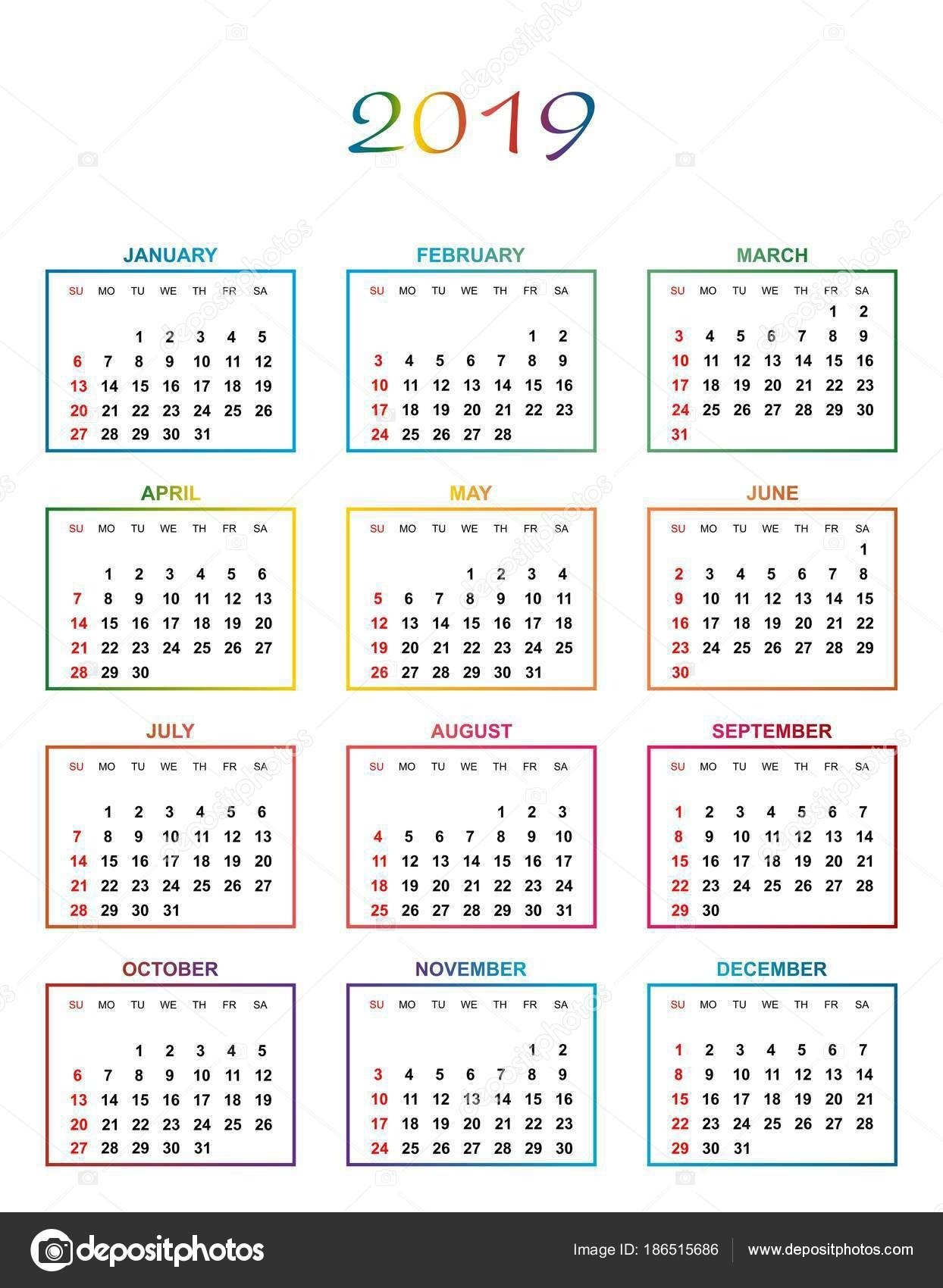 Year Calendar Days Numbered | Ten Free Printable Calendar Printable Calendar That You Can Fill In Color In The Blocks