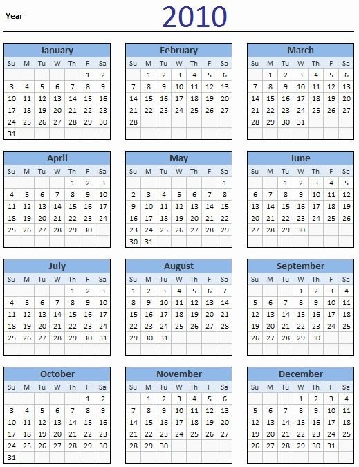 Excel 2010 Calendar Template Luxury Free 2010 Calendar Aol Free Printable Calendar