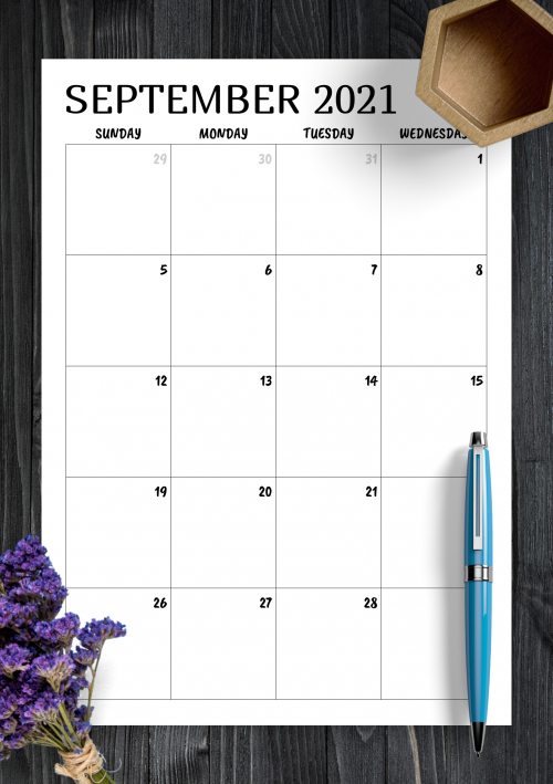 Printable 2020 Calendars Templates Download Pdf 2 Page Monthly Calendar Template