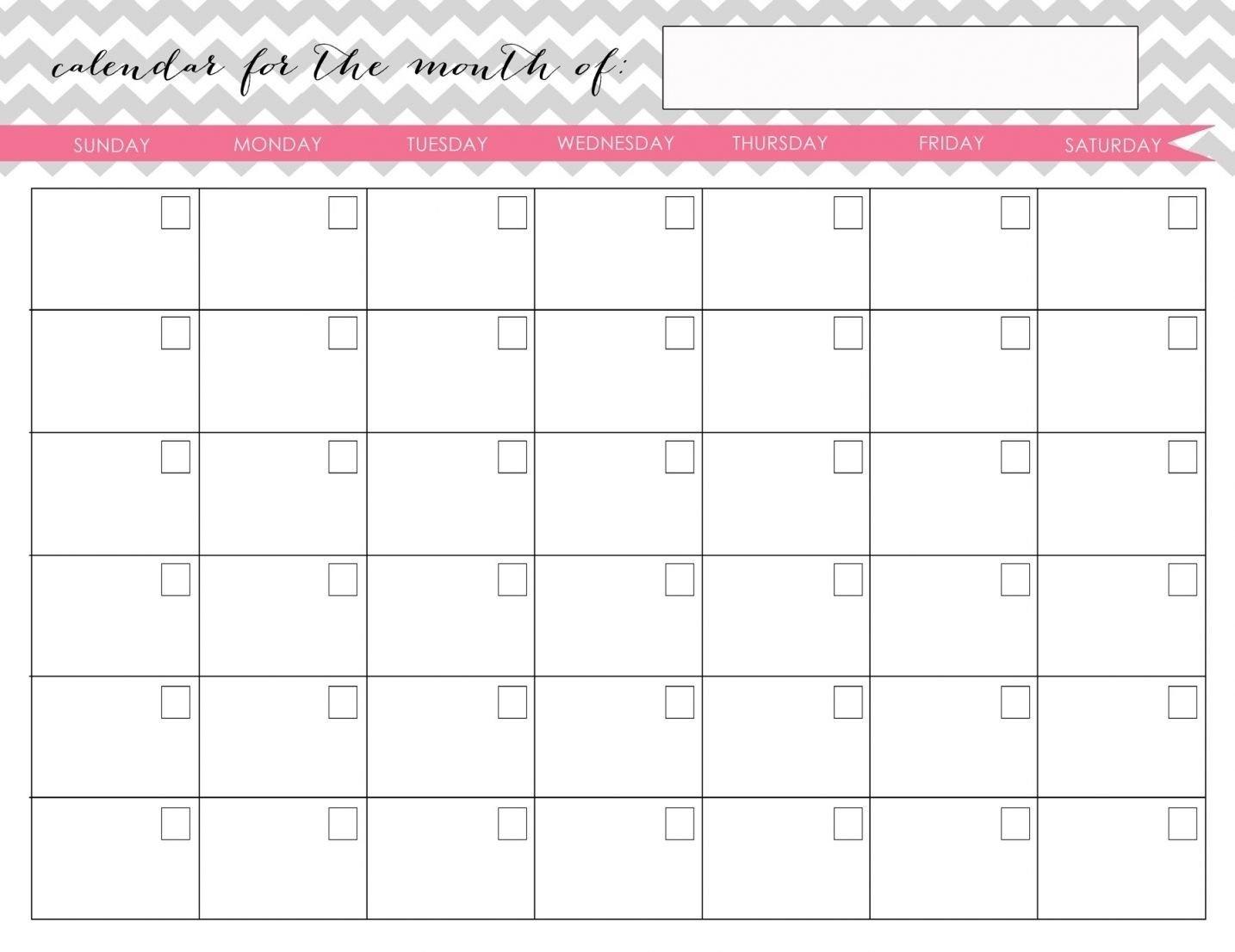 Printable Fill In Calendarmonth | Calendar Template Fill In And Print Calendar